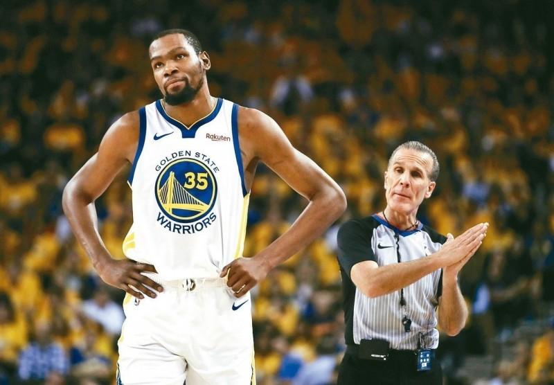 NBA/杜蘭特總冠軍賽G1缺陣?勇士下周再評估