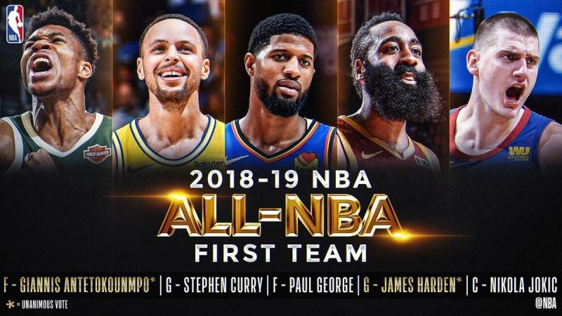 NBA/中斷連11年度第一隊 詹姆斯首度落第三隊