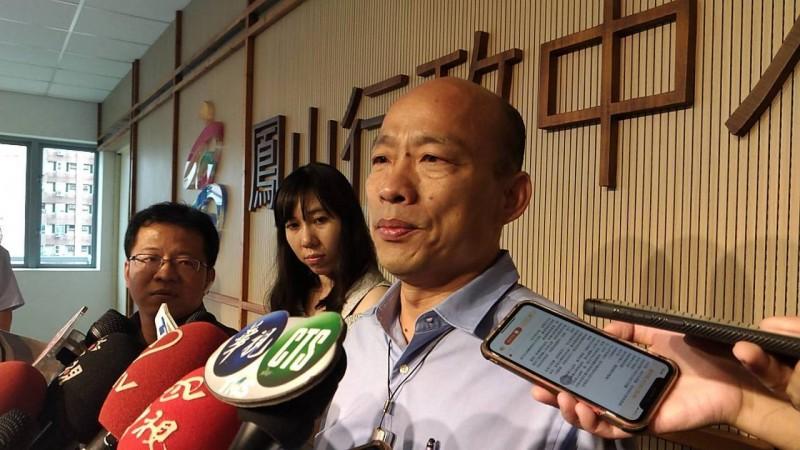 韓國瑜稱市長室遭竊聽 綠營人士批韓「連辦公室在哪都不知道」