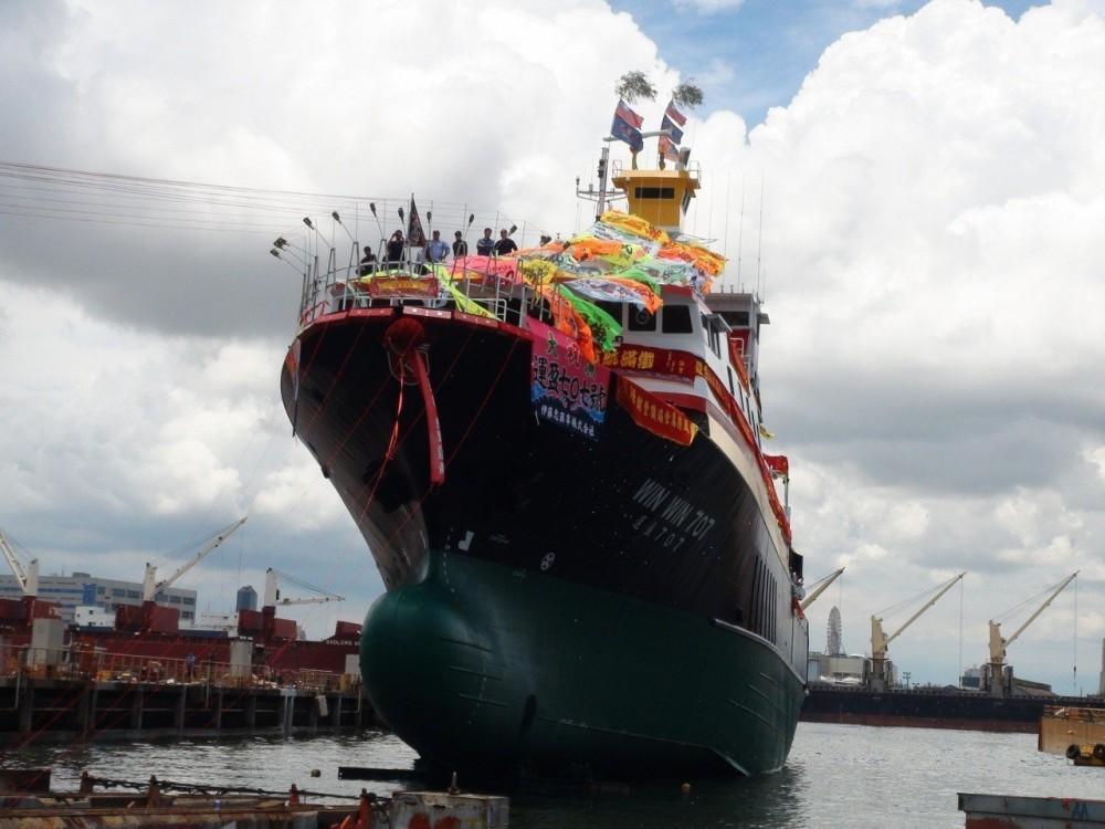 華偉漁業集團圍網船下水典禮 提高漁獲量2到3成