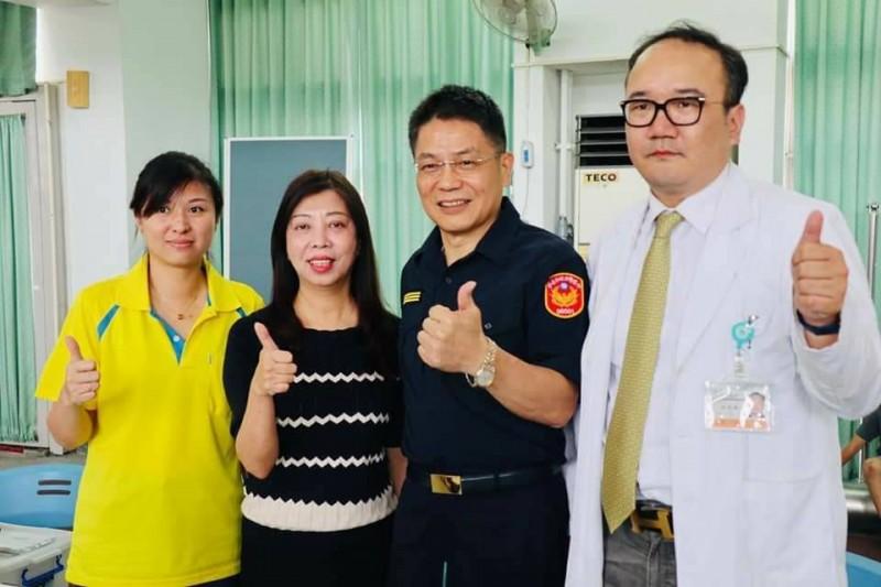 台南善化警分局端午節號召捐血 民眾參與踴躍
