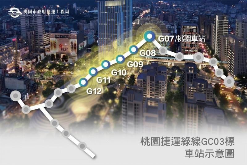 桃園捷運綠線地下段標出 拚114年第一階段通車