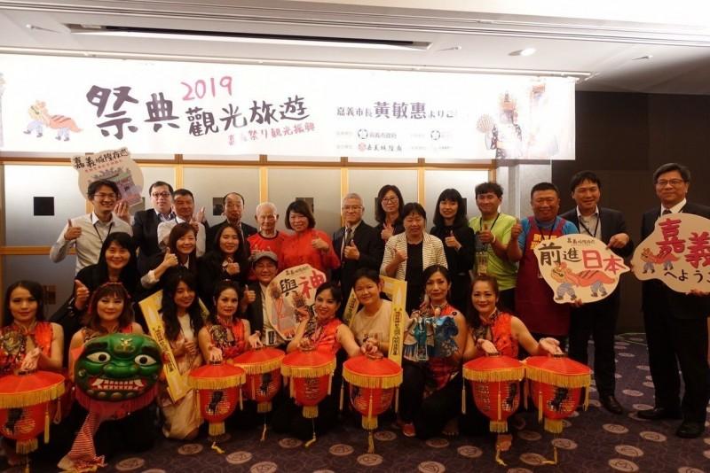 黃敏惠到日本東京 宣傳嘉市「城隍夜巡」