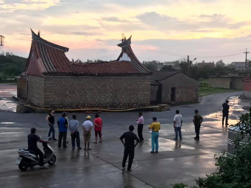金門呂氏宗祠遭雷擊全毀 陳玉珍開協調會協助重建