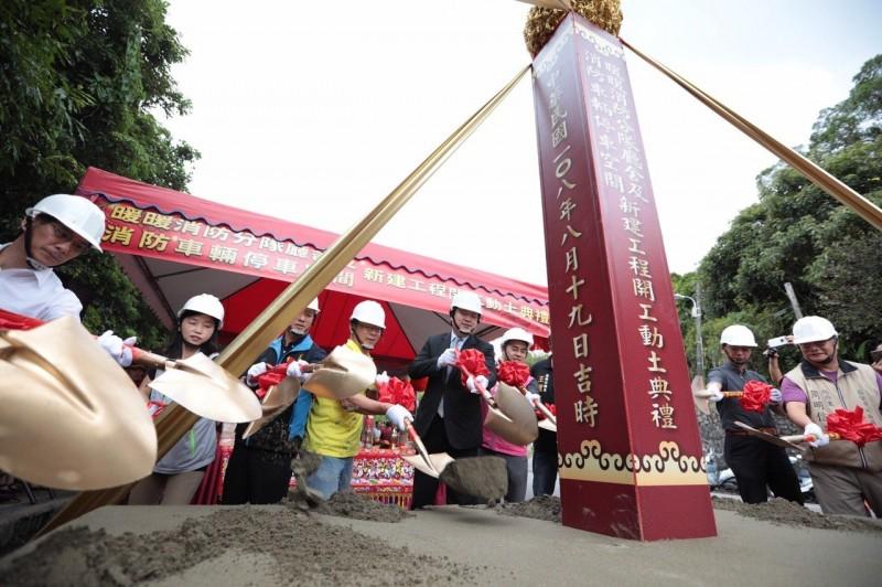 任內興建消防分隊首例 林右昌:打造執勤訓練防災據點