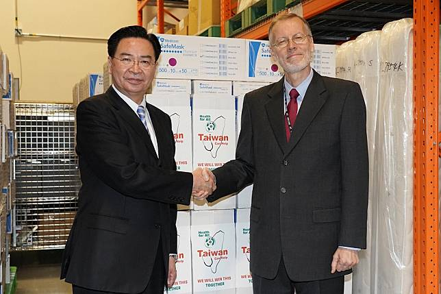 200萬片台製口罩啟程運美 AIT致謝:感謝台灣的慷慨大方