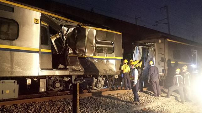 影/台鐵區間車車禍 第七節車廂撞擊嚴重