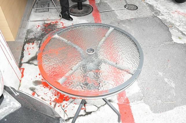 林榮基疑遭傾中人士潑漆 警鎖定嫌犯追查中
