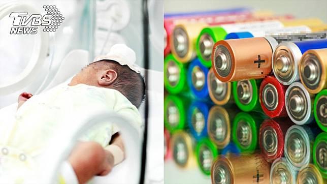 1歲嬰誤食電池…下秒嘴裡爆炸「黑色粉末噴出狂冒煙」