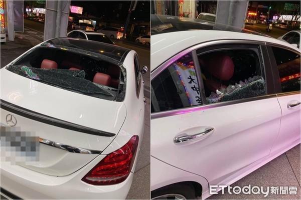 網傳賓士300哥「車被砸爆」...整片玻璃全碎!網秒揭疑點 警方回應了