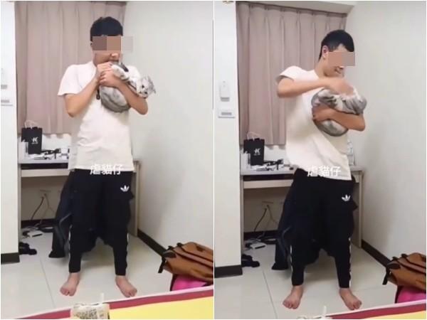 台中男大生虐貓!被哈氣「重摔後猛踩」朋友狂笑…20秒影片網氣炸